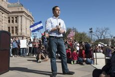 U.S. Rep. Joaquin Castro, D-San Antonio, addresses the crowd during a rally at the Texas Capitol on Feb. 25, 2017.