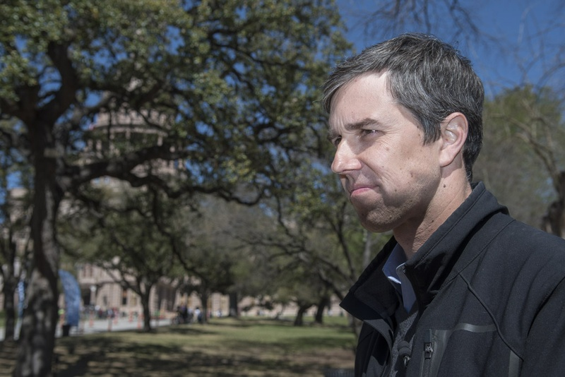 Congressman Beto O'Rourke, D-El Paso, answers a reporter's question at the Texas Capitol before the NoBanNoWall rally on Saturday, Feb. 25, 2017.