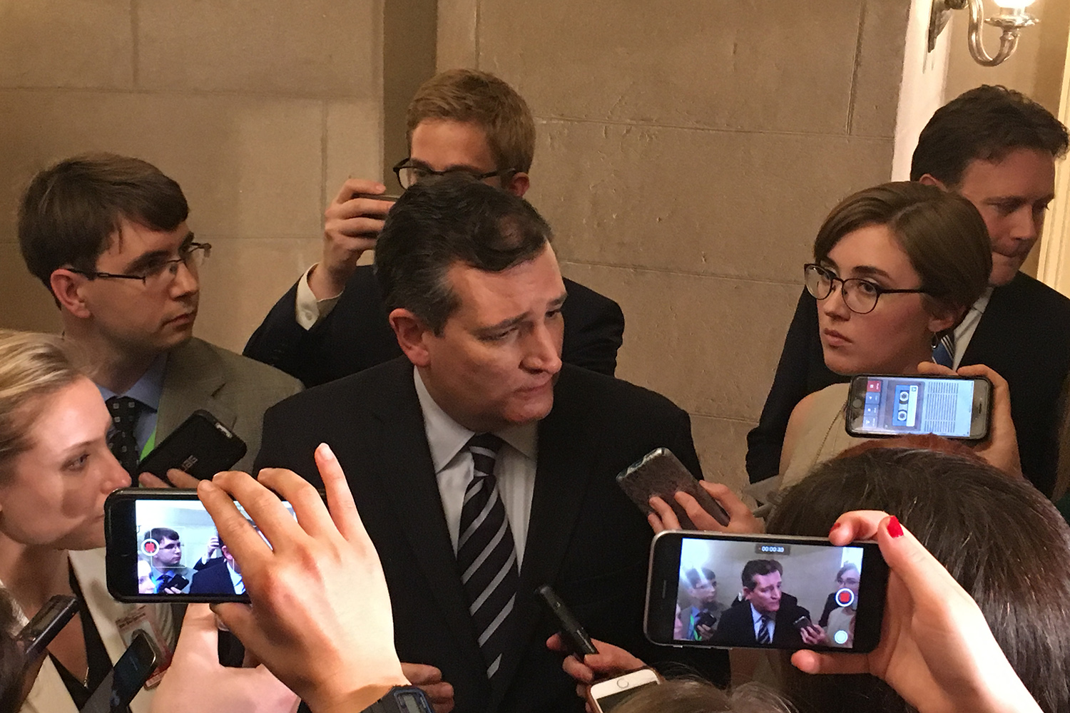 Speaking to reporters after President Donald Trump's address, U.S. Sen. Ted Cruz said the address