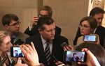 Speaking to reporters after President Donald Trump's address to Congress on Feb. 28, 2017, U.S. Sen. Ted Cruz reiterated his desire to repeal and replace the Affordable Care Act, saying that Americans were suffering from high insurance premiums.