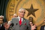 State Rep. and Public Education Chairman Dan Huberty, R-Houston, speaks at a press conference unveiling the school finance bill on March 6, 2017.