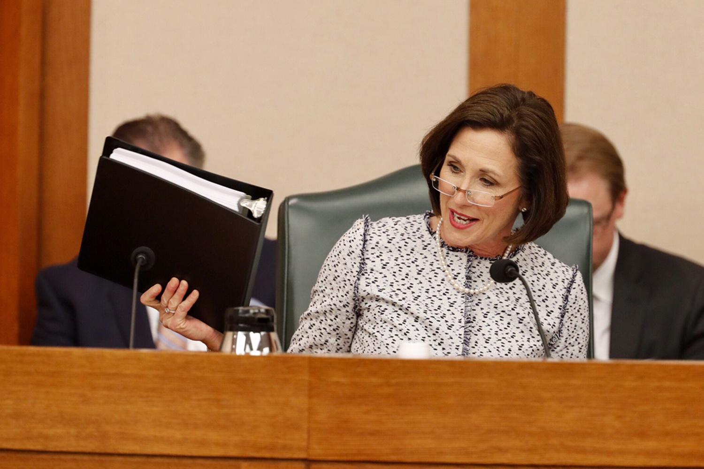 State Sen. Lois Kolkhorst, R-Brenham, lays out Senate Bill 6, the so-called