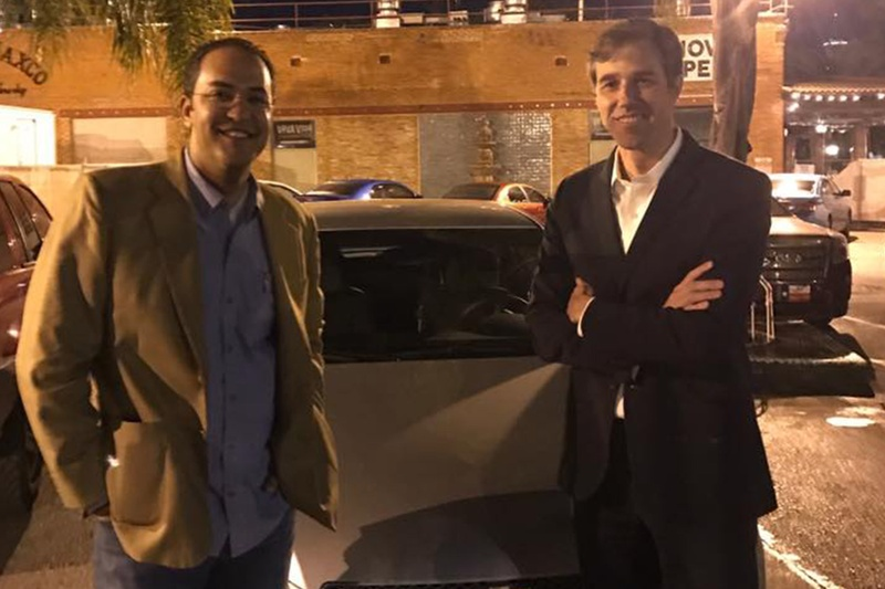 U.S. Rep. Will Hurd, R-Helotes, and Beto O'Rourke, D-El Paso, drove across the country when an east coast snowstorm scrambled their flights back to Washington.