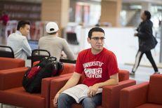 Pre-med sophomoreRicardo Gutierrez on the University of Houston campus in Houston on March 15, 2017.