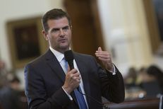 """State Sen. Brandon Creighton, R-Conroe, answers questions about Senate Bill 25, a """"wrongful births"""" bill designed to prevent doctors from encouraging abortions to avoid lawsuits, on March 20, 2017."""