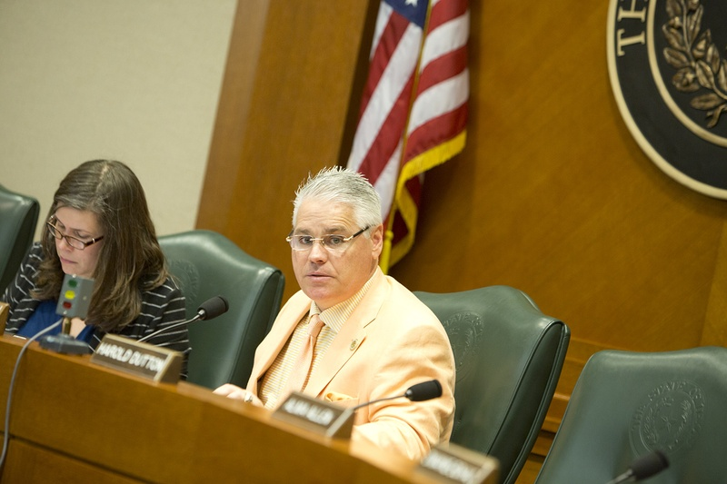 House Committee on Public Education ChairmanDan Huberty at a hearing on March 21, 2017.