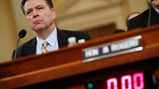 FBI Director James Comey testifies on Capitol Hillbefore the House Intelligence Committee hearing into alleged Russian meddling in the 2016 U.S. election on March 20, 2017.