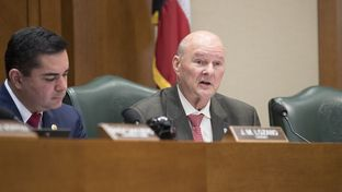 State Rep. John Raney, R-College Station, lays out his bill HB 355 in the House Higher Education Committee on March 22, 2017.  Raney's bill would forbid registered sex offenders from residing in college dorms to help curb the crime o sexual assaults on Texas college campuses.