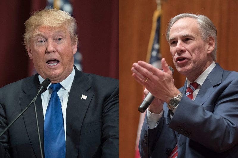 President Donald J. Trump and Gov. Greg Abbott