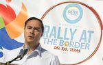 U.S. Rep. Joaquin Castro, D-San Antonio, speaks during the Border Unity Rally on March 25, 2017.