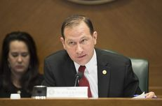 """State Sen. Charles Schwertner, R-Georgetown, chairs the Senate Health and Human Services Committee on March 27, 2017. The committee is consider several bills related to long-term care facilities including S.B. 1130 by Sen. Juan """"Chuy"""" Hinojosa and others."""