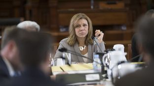 State Sen. Joan Huffman, R-Houston, during a meeting of the Senate State Affairs Committee on March 27, 2017.