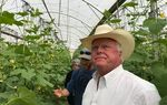 Texas Agriculture Commissioner Sid Miller tours the Naama Agricultural Community in Israel's Jordan Valley.