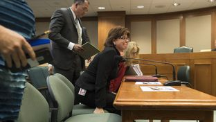 Texas Alcoholic Beverage Commission Executive Director Sherry Cook prepares to testify before the House Committee on General Investigating & Ethics on April 13, 2017.