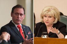 House Appropriations Chairman John Zerwas, R-Richmond, and Senate Finance Chairwoman Jane Nelson, R-Flower Mound.