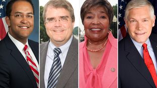(R-L) U.S. Reps. Will Hurd, R-Helotes, John Culberson, R-Houston, Eddie Bernice Johnson, D-Dallas and Pete Sessions, R-Dallas.
