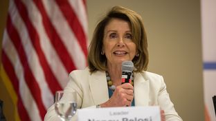 House Minority Leader Nancy Pelosi speaks at the Clinical Education Center at Brackenridge on April 20, 2017.