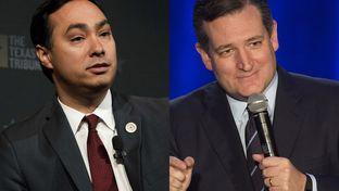 U.S. Rep. Joaquin Castro (left) and U.S. Sen. Ted Cruz.
