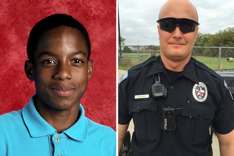 15-year-old Mesquite High School freshman Jordan Edwards (left) was shot and killed by Balch Springs police officer Roy Oliver on April 29, 2017.