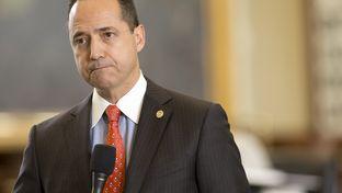 State Sen. José Menéndez, D-San Antonio, listens to questions regarding Senate Bill 179, the anti-cyberbullying bill, on May 3, 2017.