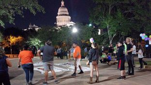 """Protesters turn out at the Capitol in Austin hours after Gov. Greg Abbott signs Senate Bill 4 — the """"sanctuary cities"""" bill — into law. Abbott livestreamed the signing of the bill on Facebook."""