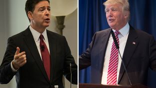 Former FBI Director James Comey (l.) was fired by President Trump on May 9, 2017.