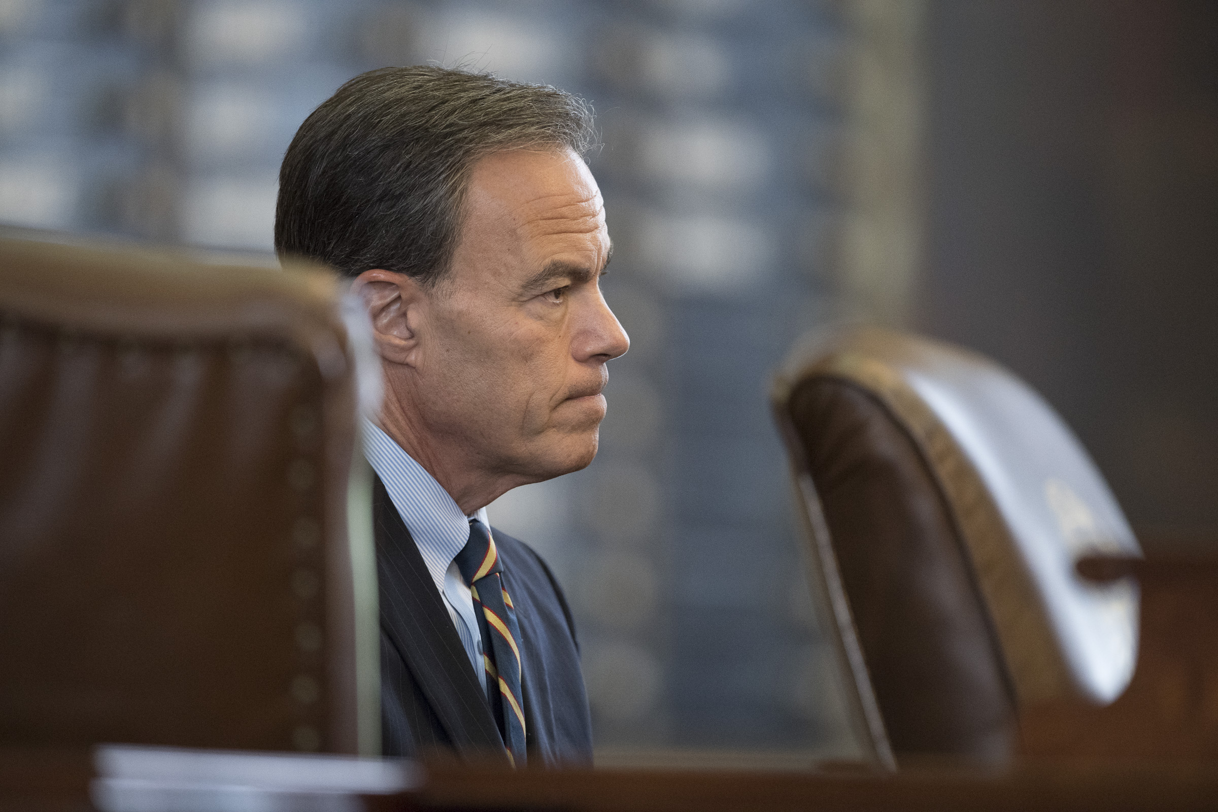 3:42 p.m. House Speaker Joe Straus looks on as lawmakers struggle to get through a mountain of bills.