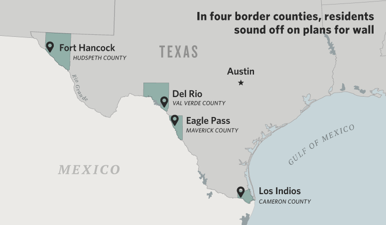 Texans Greet Plans For Trump's Wall With Tears, Fears Or Open Arms ...