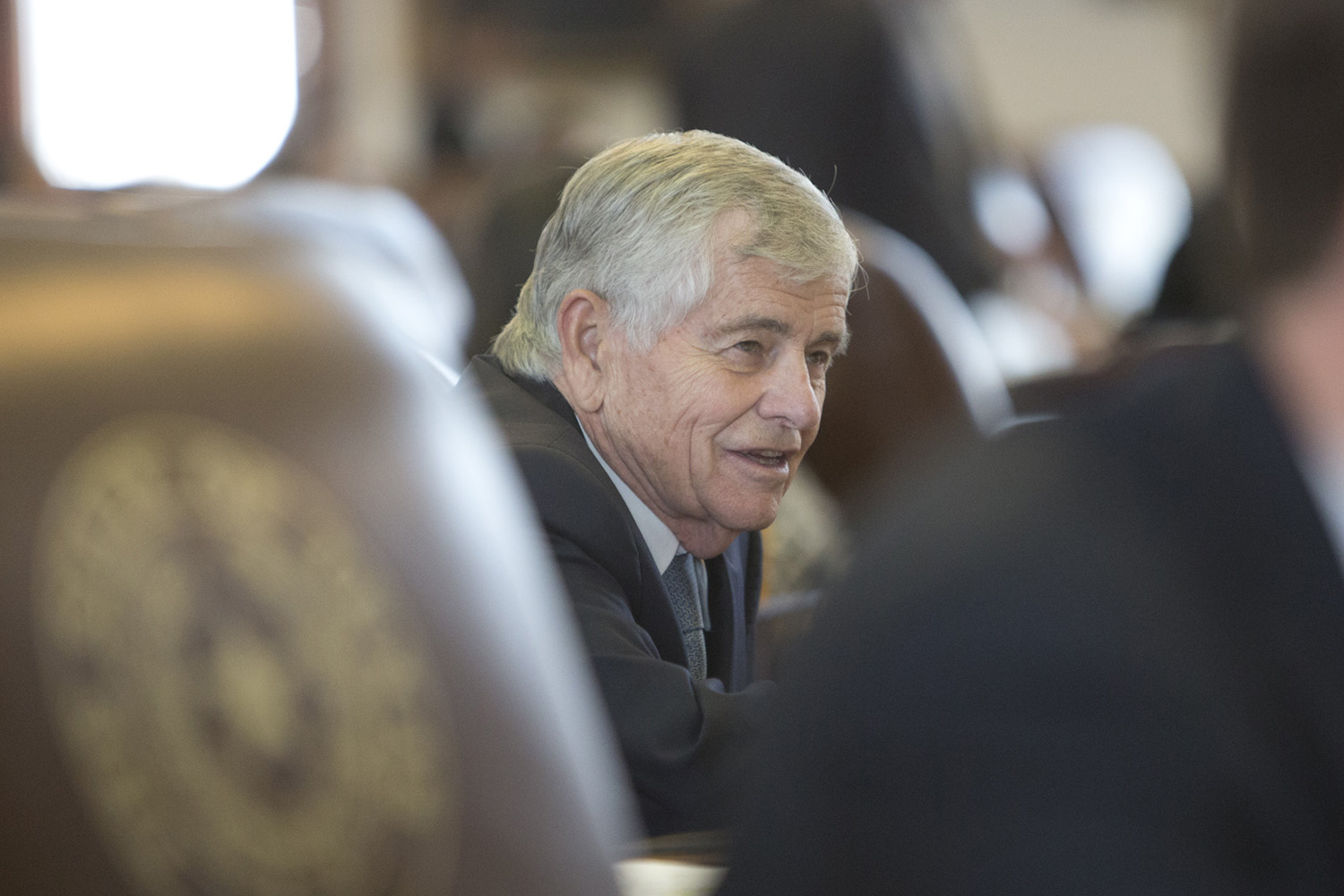 State Rep. Tom Craddick, R-Midland, at his desk in the House after passage of House Bill 62 — a statewide ban on texting while driving — on May 19, 2017.