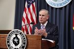 Gov. Greg Abbott lays out items for a special session at a press conference on June 6, 2017. The session will start on July 18.