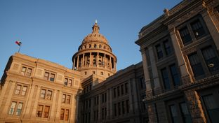 The Texas Capitol building in Austin.