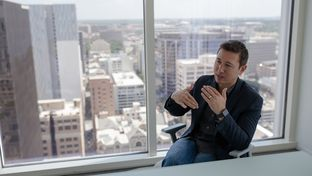 Andy Tryba, co-founder and CEO of RideAustin, at the company's headquarters in downtown Austin on June 14, 2017.