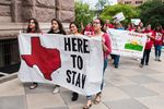Protesters against Senate Bill 4, the state's new immigration law, marched at the Texas Capitol on May 29.