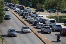 Traffic on Lamar Boulevard in downtown Austin on June 22, 2017.