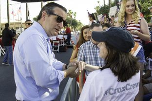 U.S. Sen. Ted Cruz, R-Texas, speaks to supporters at Fourth of July festivities in McAllen.