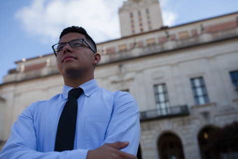 Sam Cervantes, an undocumented immigrant out of Houston, pays in-state tuition at The University of Texas at Austin.