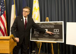 Lt. Gov. Dan Patrick addresses the media at the Texas Capitol on July 13, 2017, days before the start of a special session.