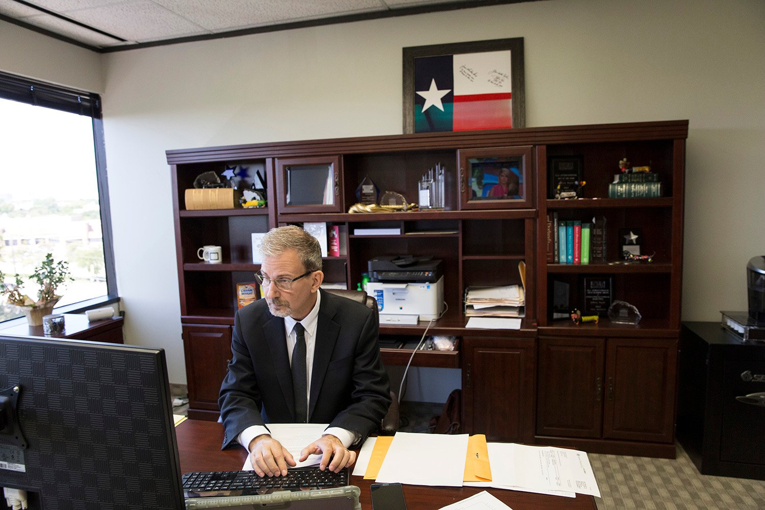 Jeffrey Payne, a Dallas-based businessman and Democrat, at his office in Dallas, Texas.