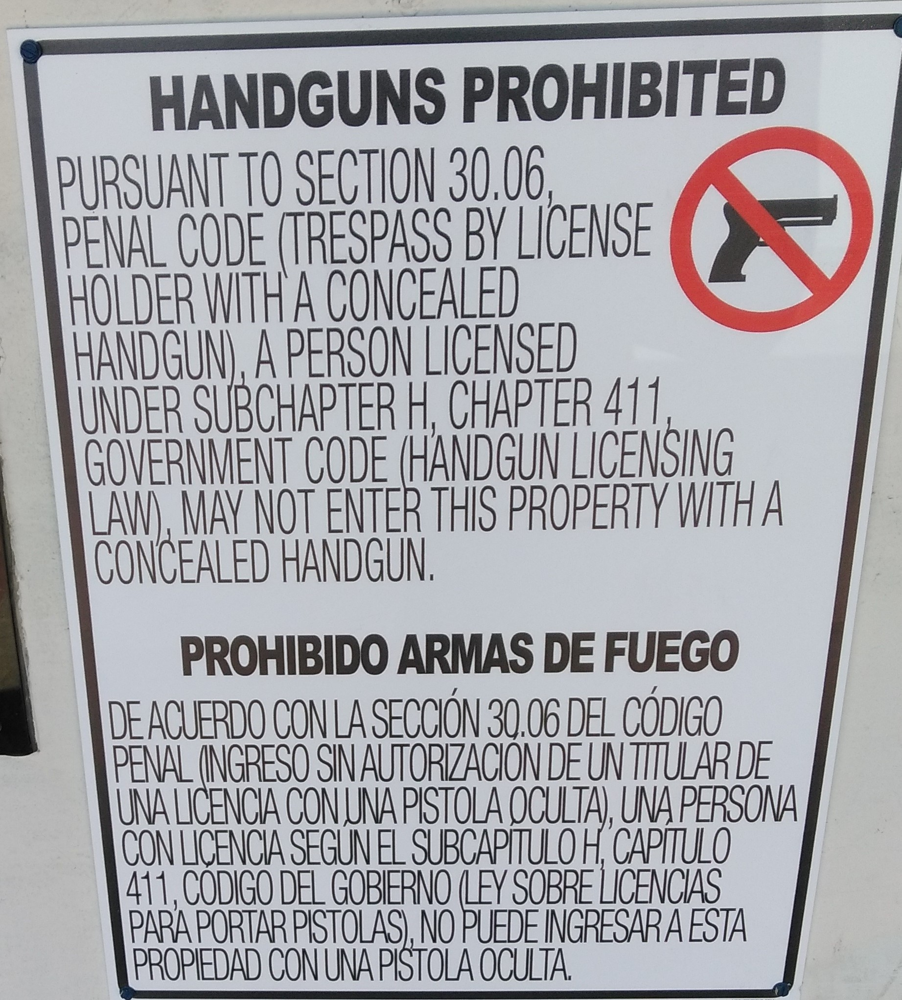 The Dallas County Community College District posted more than $20,000 in signage related to campus carry laws.