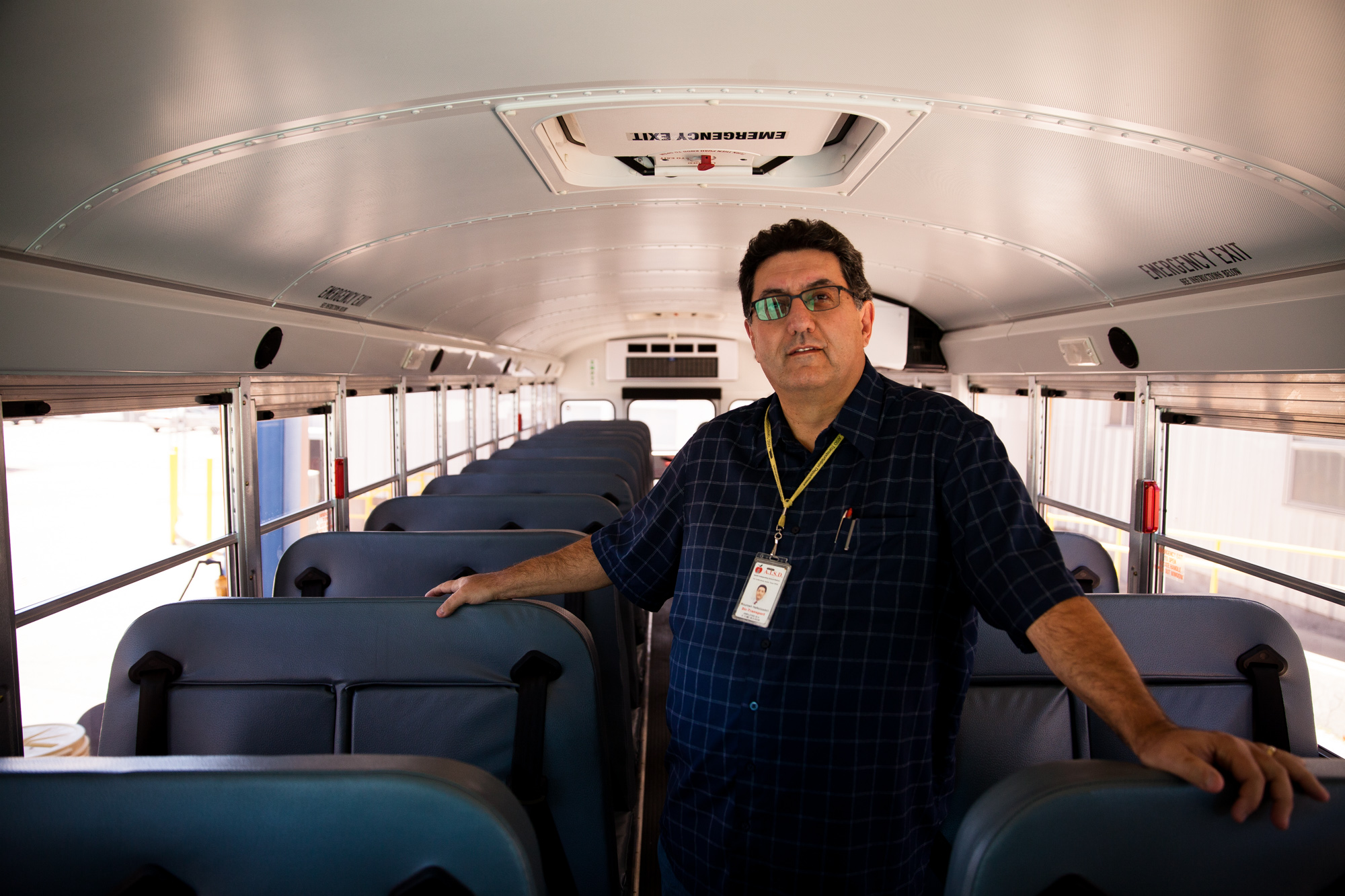Kris Hafezizadeh, Director of Transportation at Austin ISD, on July 26, 2017.