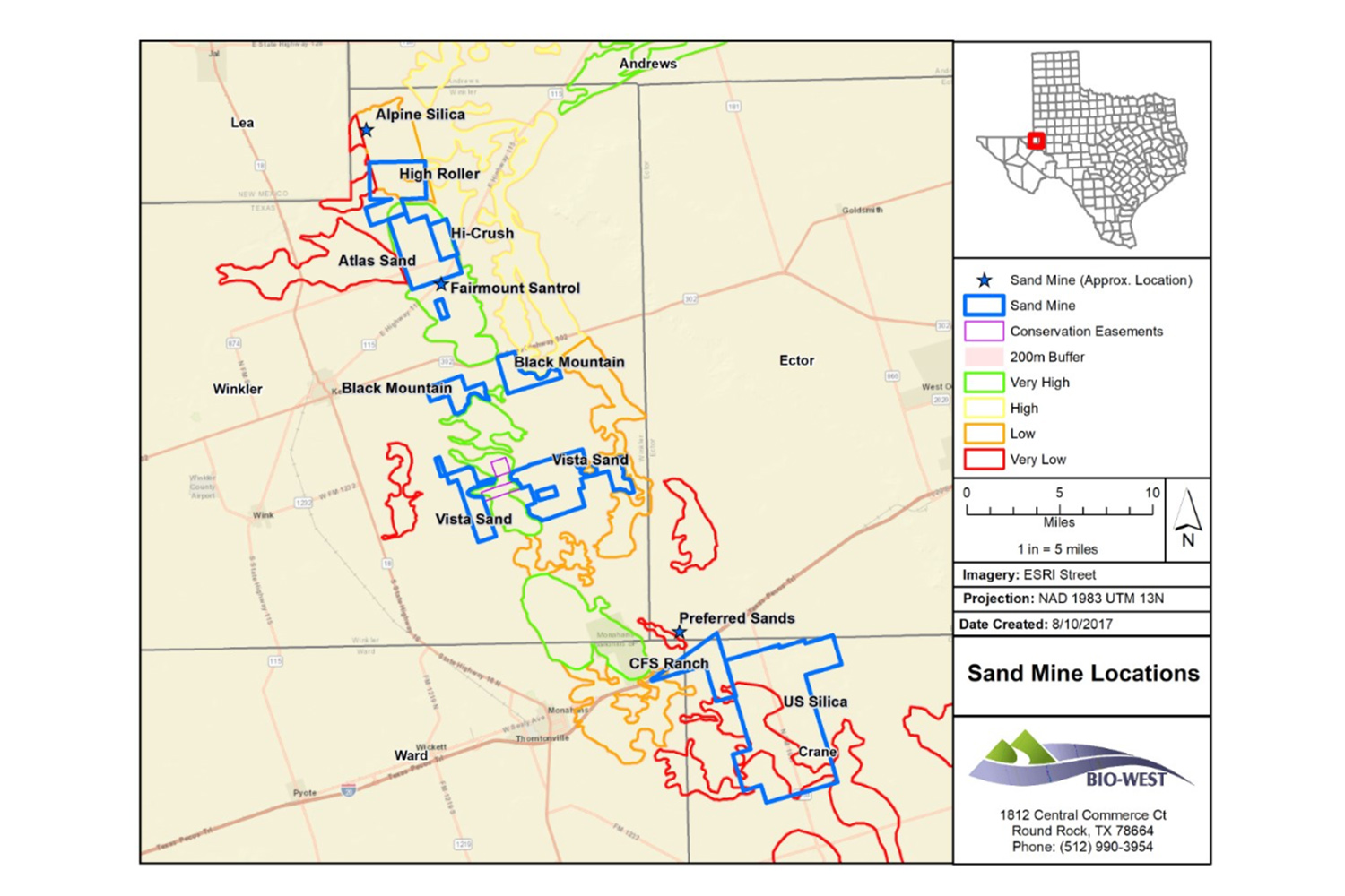 Oilfield Sand Miners Encroaching On Threatened West Texas Lizard - Map of west texas