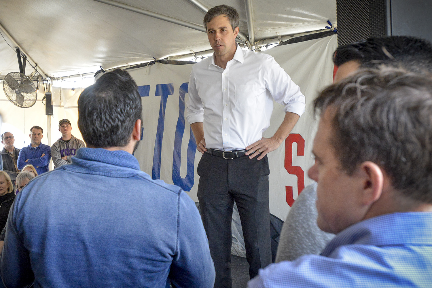 U.S. Rep. Beto O'Rourke, D-El Paso, a Democratic candidate for U.S. Senator, answers questions at a rally and town hall meeting at the Old Texas Brewing Company in Burleson on Saturday Feb. 24, 2018.
