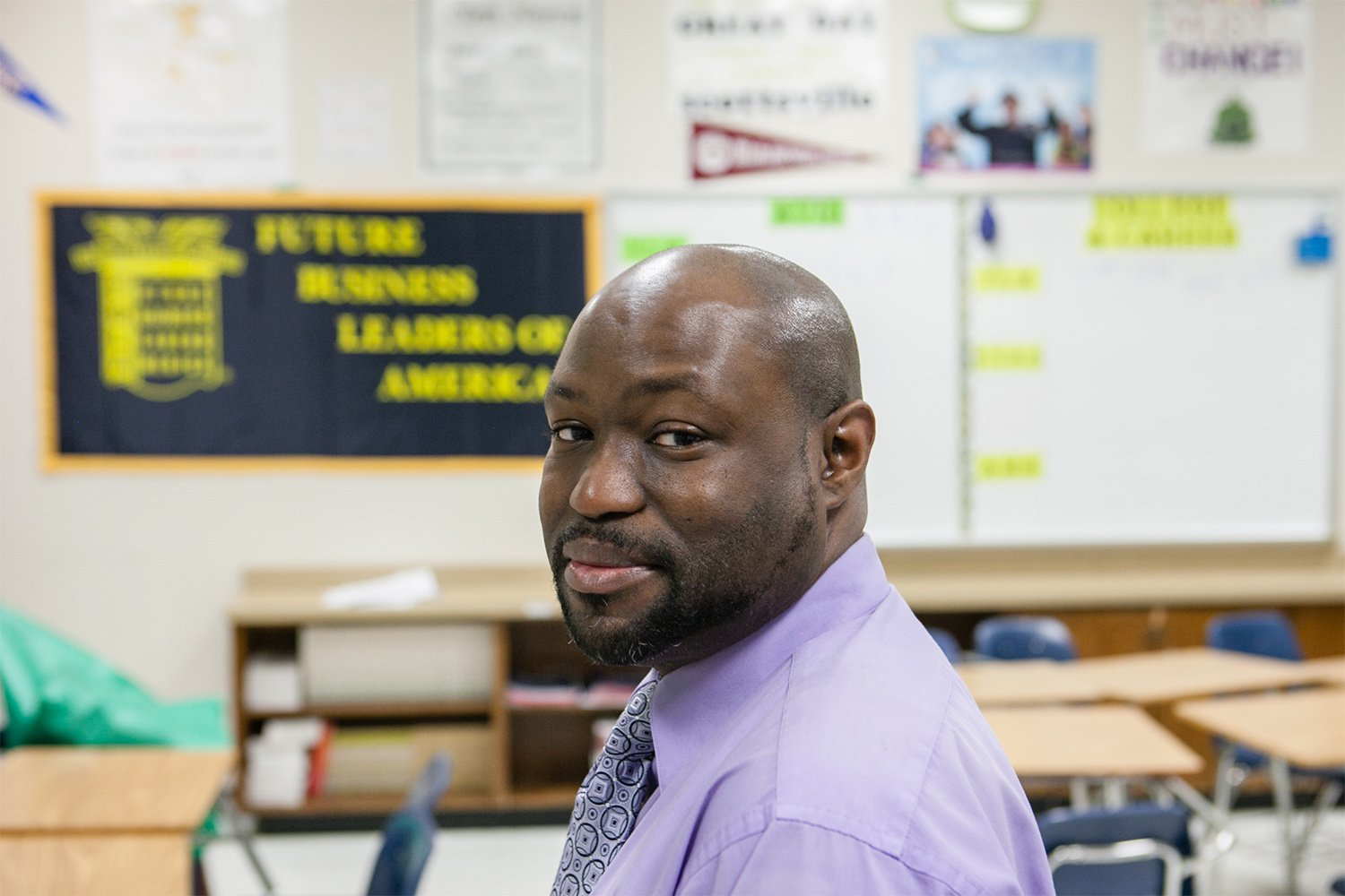 Teachers like Roderick Scott make up one of the largest groups of professionals in Texas at risk of losing their license because of student loan default, according to data maintained by Trellis.