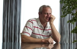 Michael Morton, a free man after 25 years in prison wrongfully convicted of his wife's murder,  poses for a photograph on March 26, 2012.  Morton told CBS's Lara Logan on 60 Minutes that he's not interested in revenge, only accountability.