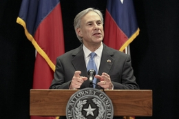 "Attorney General Greg Abbot speaks about Texas' lawsuit against ""Obamacare"" on January 31, 2011"