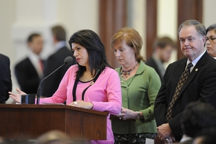 State Rep. Carol Alvarado, D-Houston, during the abortion sonogram bill debate on March 2, 2011.