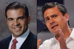 Nelson Balido, the president of the Border Trade Alliance (left) and President-elect, Enrique Peña Nieto