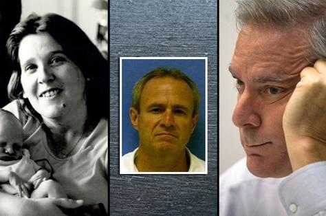 Debra Jan Baker, Michael Morton (center), Williamson County District Attorney John Bradley