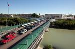 An international bridge connecting Laredo, Texas and Nuevo Laredo, Tamaulipas.