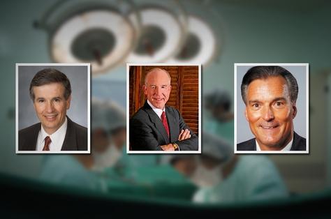 State Rep. Bill Zedler, R-Arlington, Dr. Steve Hotze and Rep. Fred Brown, R-Bryan.